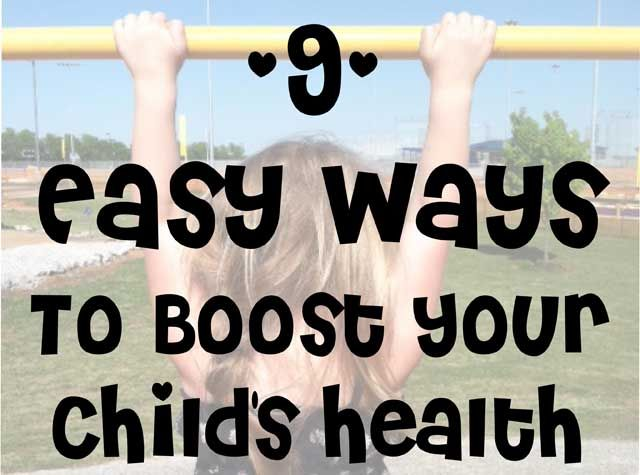 Boost your child's health