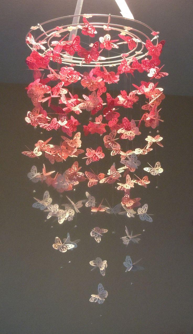 Люстра своими руками бабочки