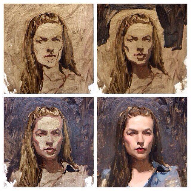 Рисуем портрет маслом поэтапно