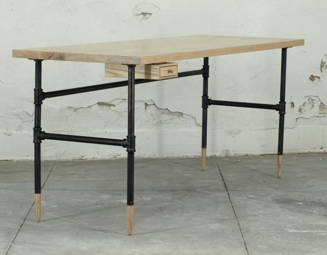 how to make a pipe desk