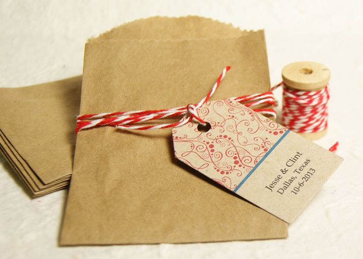Wedding Favor Tag - Create Your Own Color Combination - Personalized ...