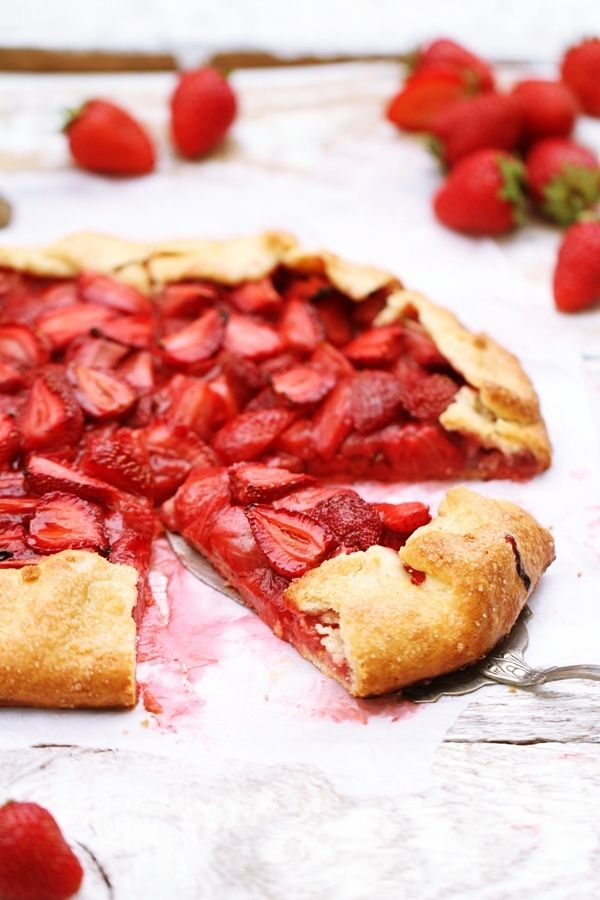 homemade vanilla whipped cream fig galette fig galette berry galette ...