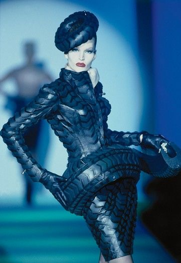 A classic Mugler design. (never seen someone wear a tire so well)