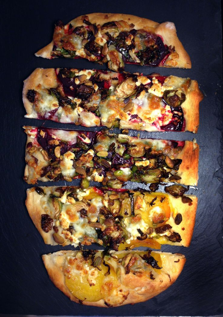 Pizza with Roasted Red & Golden Beets, Garlic Fried Brussels Sprouts ...