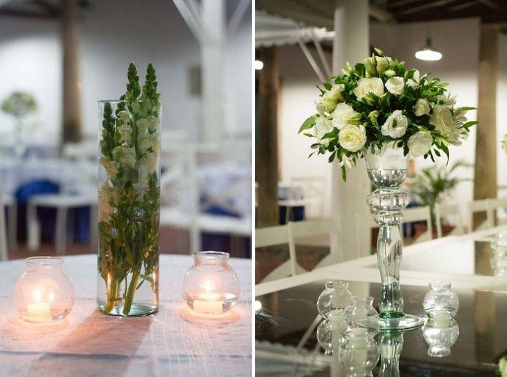 decoracao mesa flores brancas casamento
