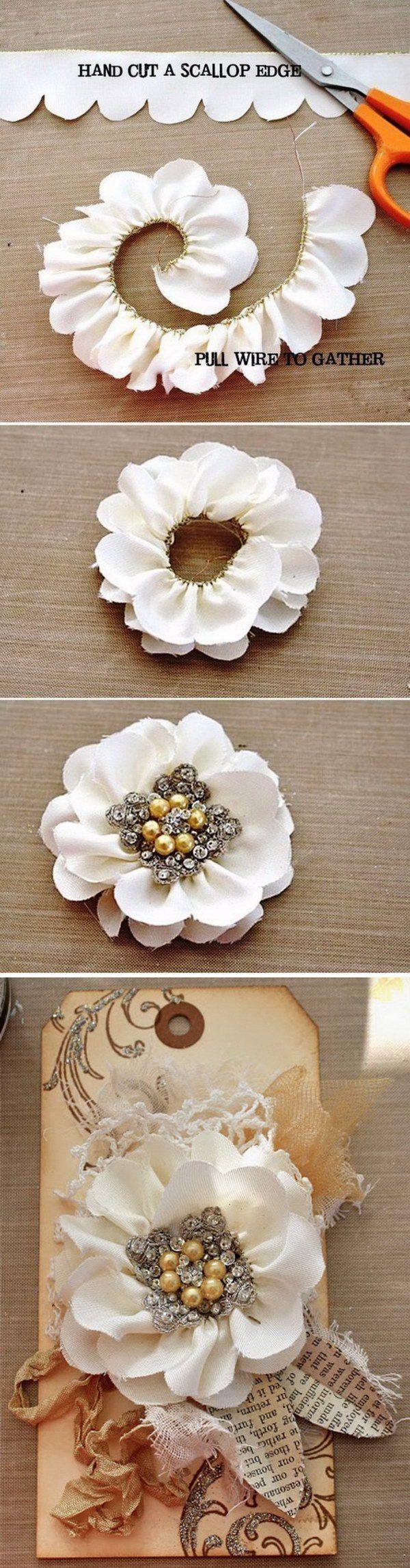 Простые цветы из лент своими руками пошаговое фото