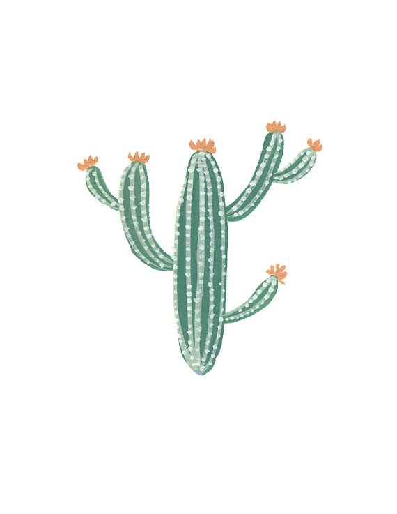 Cactus art print archival fine art print home decor for Art sites like etsy