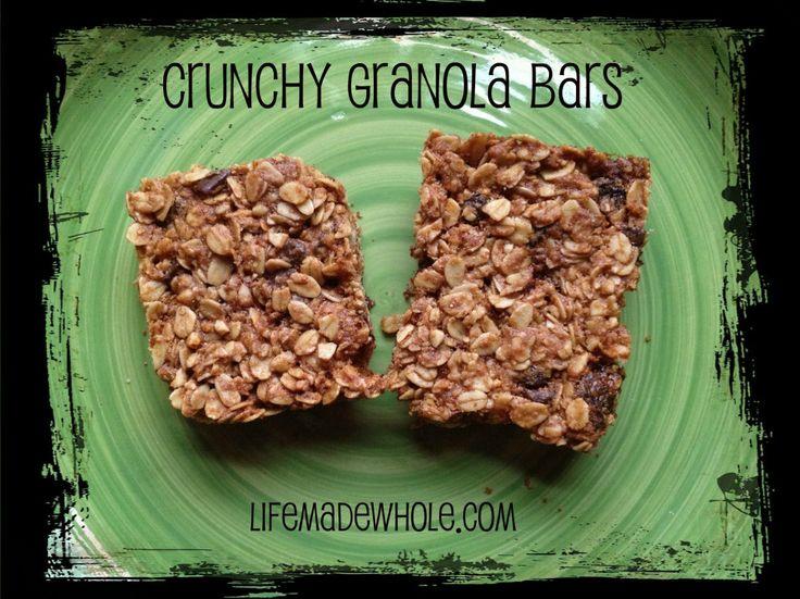 Crunchy Granola Bars | Food+Recipes+Dining | Pinterest