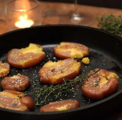 roasted & smashed potatoes | yummy | Pinterest