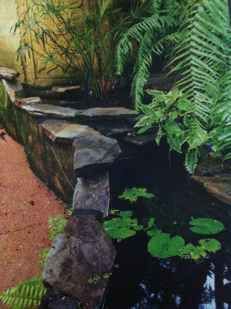 Rock edge pond gardens and landscaping pinterest for Garden pond edging