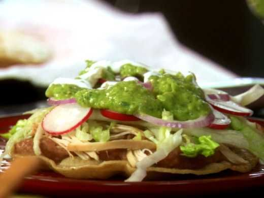 Crunchy tostadas topped with rotisserie chicken: what could be easier ...