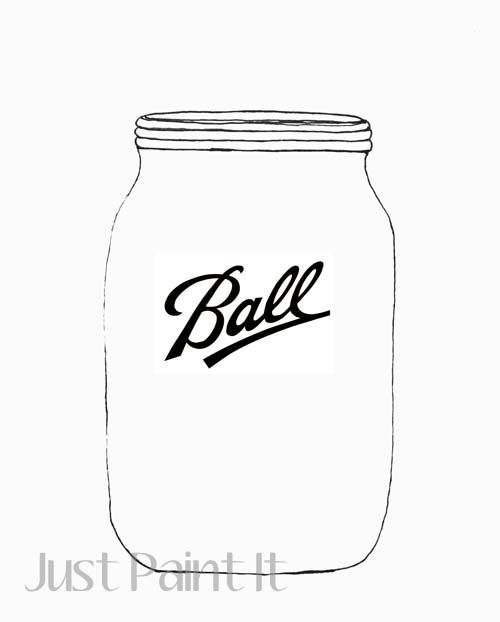 Mason Jar Patterns One With Logo Without Use For Painting Ballroom Coloring Pages