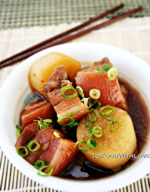 To Food with Love: Buta No Kakuni (Japanese Braised Pork Belly)