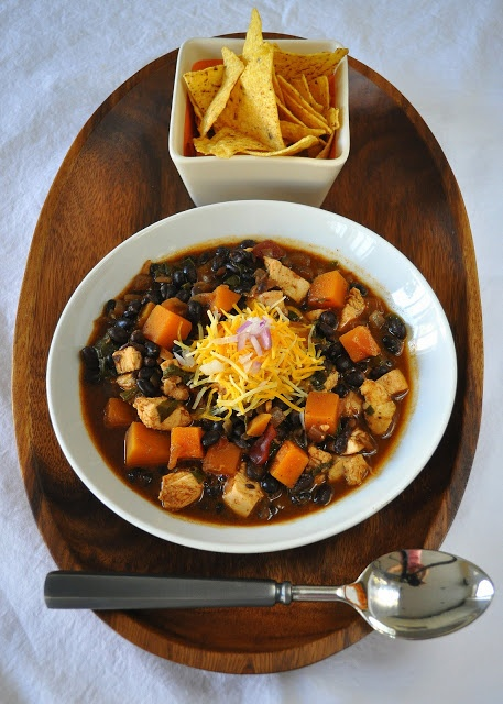 Black Bean and Chicken Chili With Butternut Squash and Swiss Chard ...