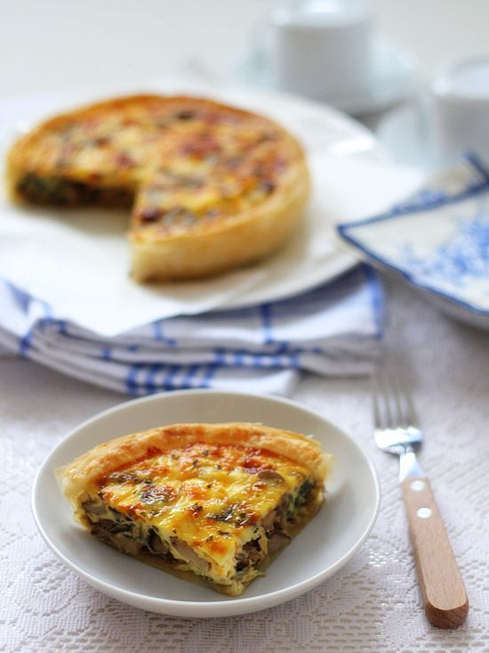 The Little Teochew: Singapore Home Cooking: Mushroom Onion Quiche