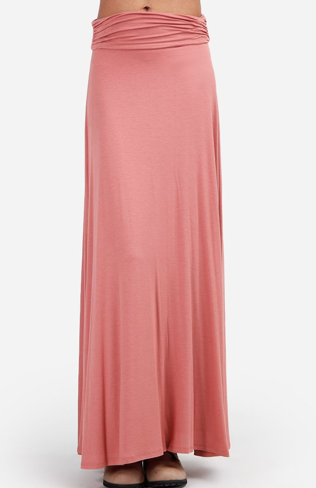 want dusty pink ruched maxi skirt my wardrobe needs