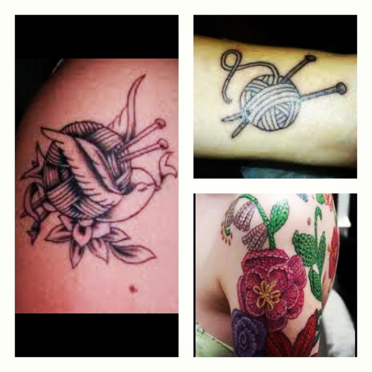 Knitting Related Tattoos : Knitting tattoos ink pinterest
