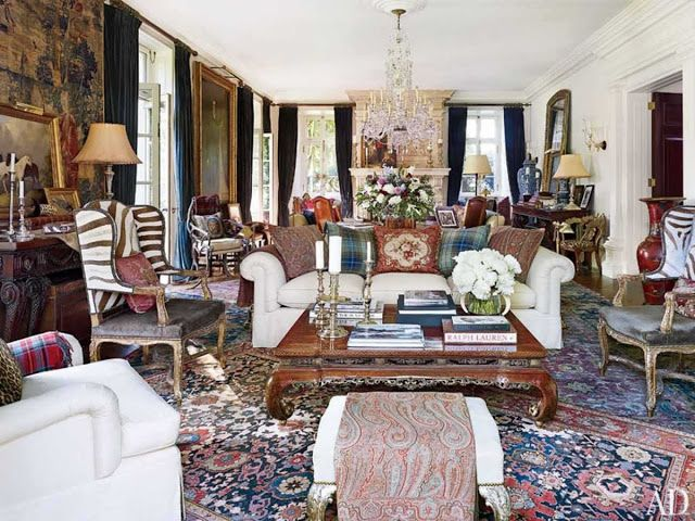 Color Outside the Lines: Ralph Lauren in Architectural Digest