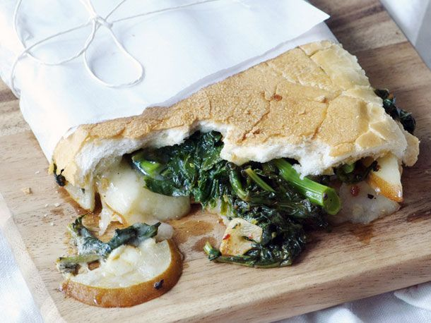 Broccoli Rabe, Pear, and Fontina Sandwich from Serious Eats (http ...