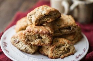 Apple-Pecan Whole Wheat Scones Recipes | Food | Pinterest