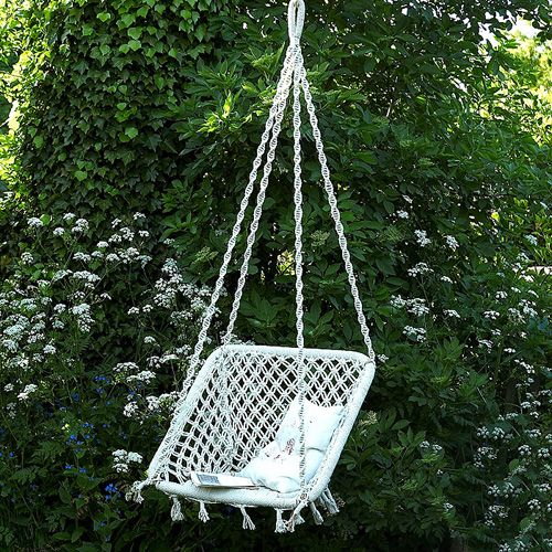 macrame swing chair macram pinterest