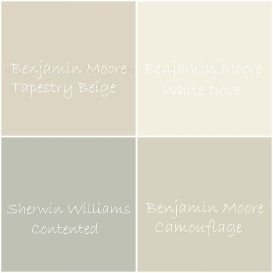 Soothing tranquil neutral color palette for Neutral paint palette for house