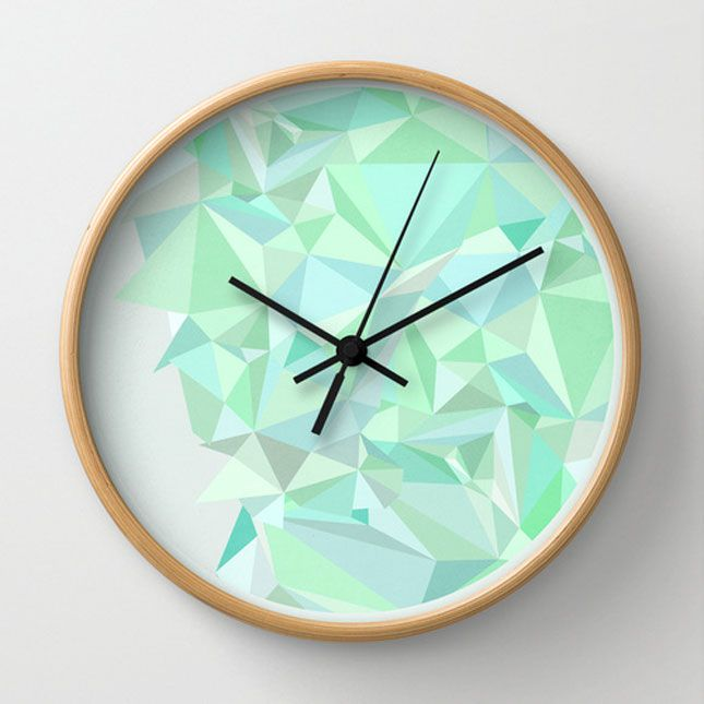 Circle clock. Pretty colors! | Home Idea Stuff