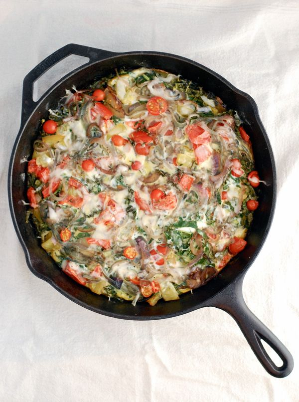 roasted potato, kale & tomato frittata | Recipes | Pinterest