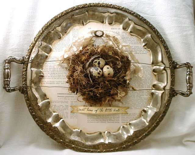 bird nest silver tray <3<3<3 ~*Dawn of The Feathered Nest*~