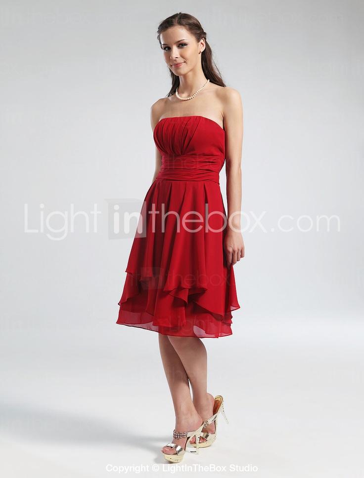 Knee length chiffon bridesmaid dress another bridesmaid option