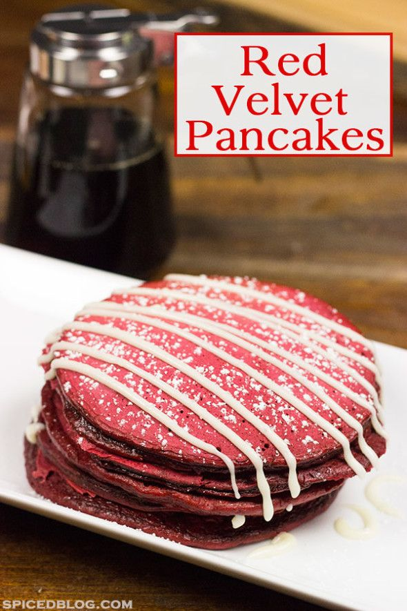 ... your mornings a little more fun with these tasty Red Velvet Pancakes