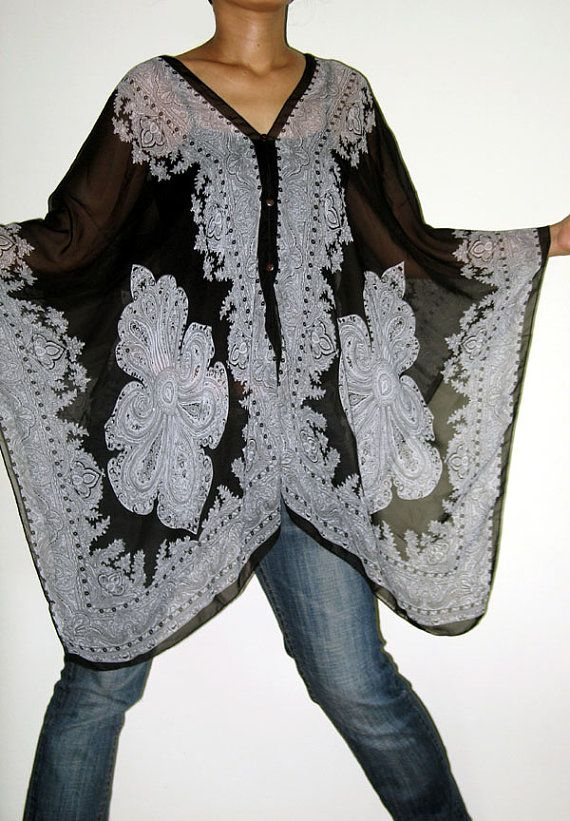 scarf caftan wing casual poncho cover top