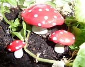 Handmade Fairy Garden Accessories. Too Cute!