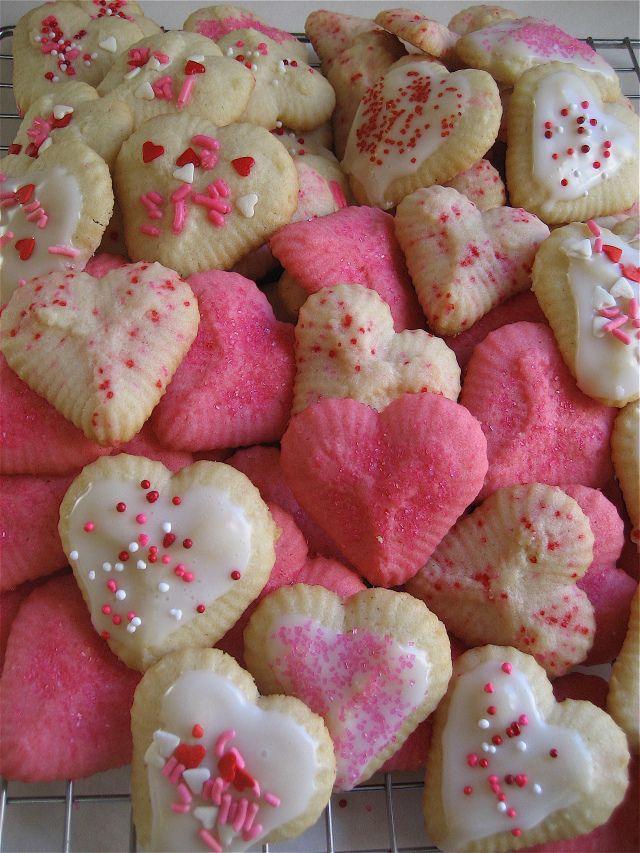 valentine's day spritz cookies