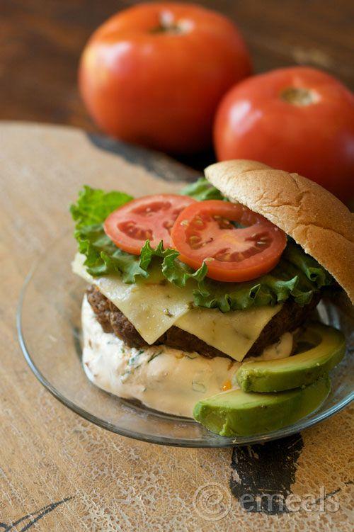 Taco Burger with Chipotle Cream Sauce | Recipe