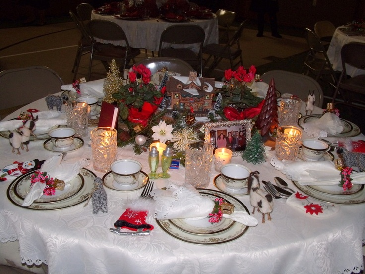 Christmas Table Setting Ladies Ministry Pinterest