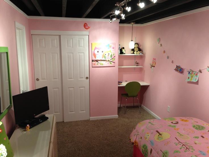 Bedroom Basement W Exposed Ceiling Ideas For Mattituck Pinterest
