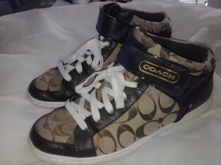 Womens Coach Shoes Signature Zoey Mid Tops Size 9.5 9 1/2 Fits up to