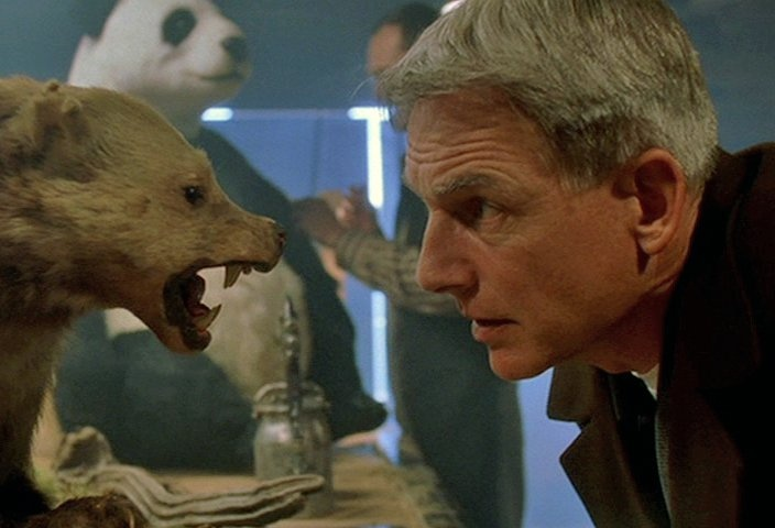 Mark Harmon as Leroy Jethro Gibbs in the NCIS episode The Meat Puzzle.