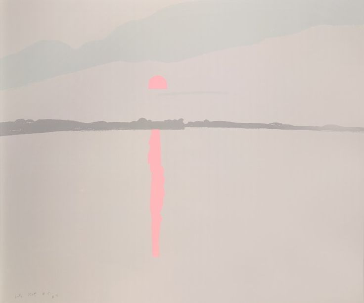 Alex Katz - Sunset: Lake Wesserunsett 1, 1972
