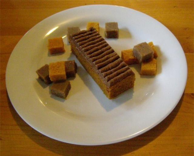 ... with Chestnut Buttercream, cubes of Pumpkin Flan and Chestnut Flan