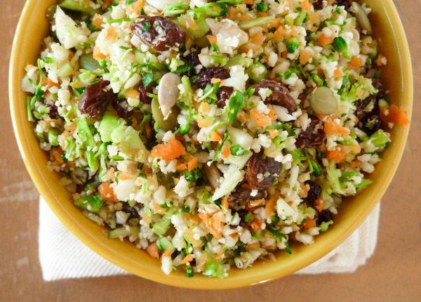 Whole Foods Detox Salad Copycat Broccoli, cauliflower, carrots, seeds ...