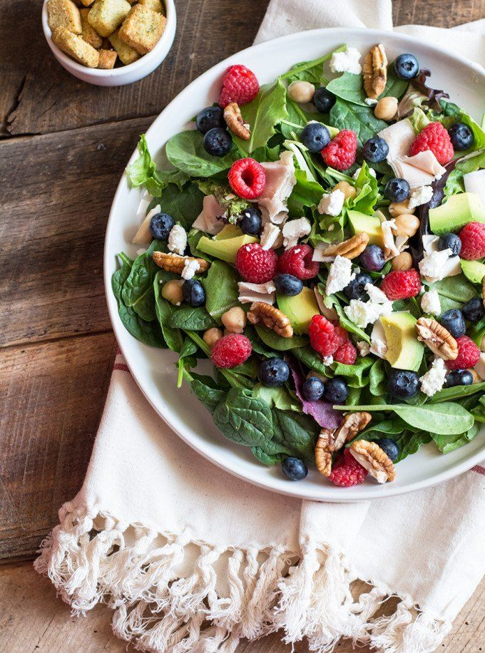 Spring Mix Salad with Vinaigrette, perfect red, white and blue salad ...