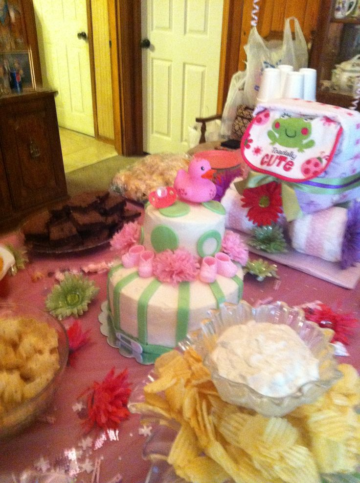 pink and green baby shower baby girl shower pinterest