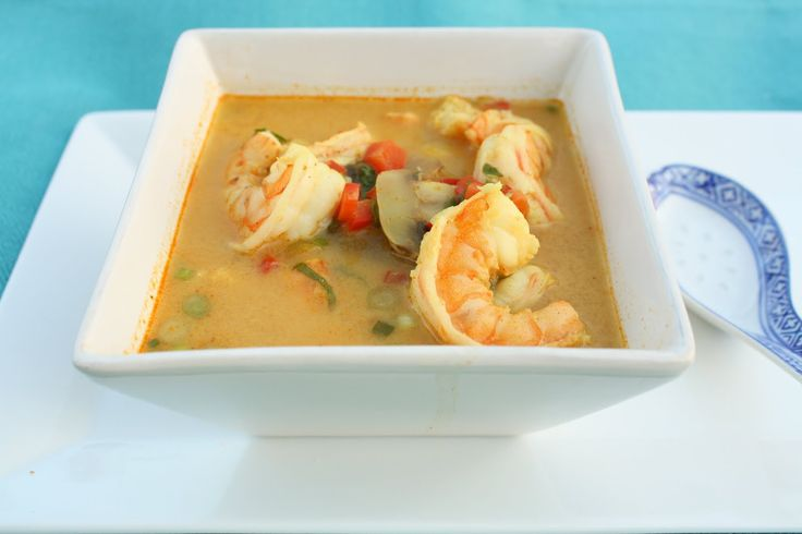 Thai Coconut Shrimp Soup - Only takes about 20 minutes to whip this ...