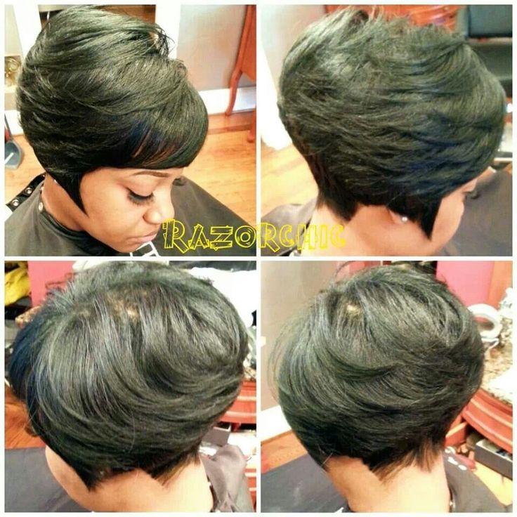 Razor cut bob | Black hair | Pinterest