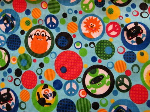 Monster fabric prince doty pinterest for Baby monster fabric