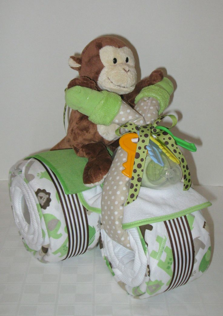 baby shower gift jungle monkey centerpiece baby cakes baby boy