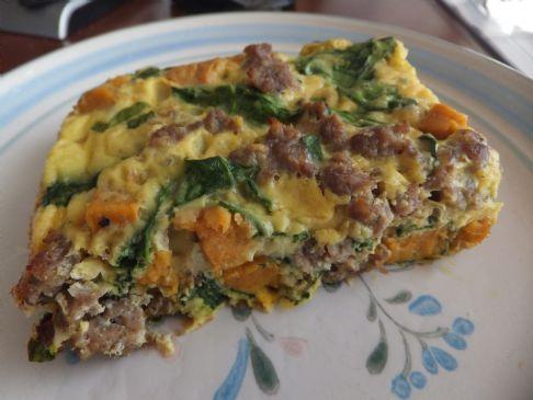 Potato, Sausage, And Spinach Breakfast Casserole Recipe — Dishmaps