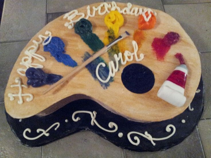 Cake With Artist Palette : A artist palette birthday cake! My Cakes Pinterest